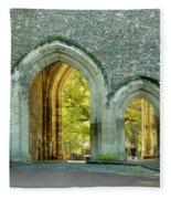 Abbey Gateway St Albans Hertfordshire Fleece Blanket