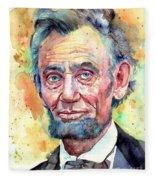 Abraham Lincoln Portrait Fleece Blanket