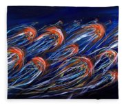 Abstract Dusk Fleece Blanket