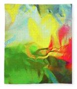 Abstract In Full Bloom Fleece Blanket