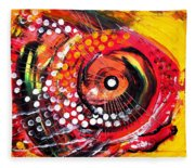 Abstract Lion Fish Fleece Blanket