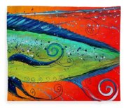 Abstract Mahi Mahi Fleece Blanket
