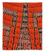 Abstract Oranges Blacks Browns Yellows Rows Columns Angles 3152019 5476 Fleece Blanket