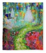 Abstract Paris Street Fleece Blanket
