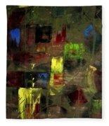 Abstract Patchwork Fleece Blanket
