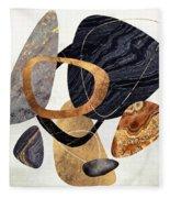 Abstract Pebbles IIi Fleece Blanket