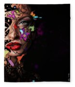 Abstract Portrait No 12 Fleece Blanket
