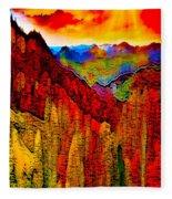 Abstract Scenic 3 Fleece Blanket
