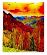 Abstract Scenic 3a Fleece Blanket
