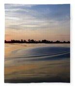 Abstract Sunset Fleece Blanket