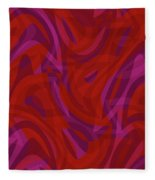 Abstract Waves Painting 0010080 Fleece Blanket
