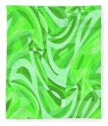 Abstract Waves Painting 0010086 Fleece Blanket