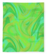 Abstract Waves Painting 0010089 Fleece Blanket