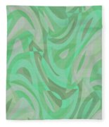 Abstract Waves Painting 0010092 Fleece Blanket