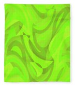 Abstract Waves Painting 0010093 Fleece Blanket