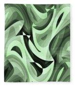 Abstract Waves Painting 0010095 Fleece Blanket