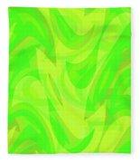 Abstract Waves Painting 0010099 Fleece Blanket