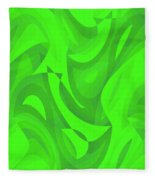 Abstract Waves Painting 0010100 Fleece Blanket