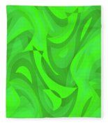 Abstract Waves Painting 0010101 Fleece Blanket