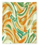 Abstract Waves Painting 0010105 Fleece Blanket