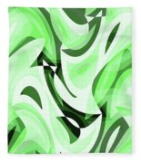 Abstract Waves Painting 0010108 Fleece Blanket