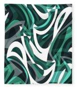 Abstract Waves Painting 0010112 Fleece Blanket