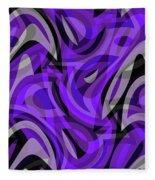Abstract Waves Painting 0010115 Fleece Blanket
