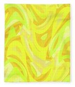 Abstract Waves Painting 0010121 Fleece Blanket