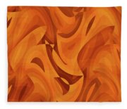 Abstract Waves Painting 001451 Fleece Blanket
