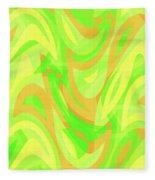 Abstract Waves Painting 007178 Fleece Blanket