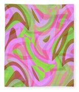 Abstract Waves Painting 007188 Fleece Blanket