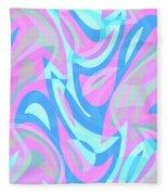 Abstract Waves Painting 007197 Fleece Blanket
