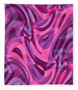 Abstract Waves Painting 007200 Fleece Blanket