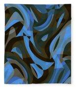 Abstract Waves Painting 007203 Fleece Blanket