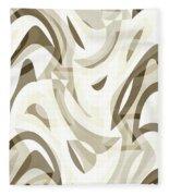Abstract Waves Painting 007212 Fleece Blanket