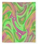 Abstract Waves Painting 007214 Fleece Blanket