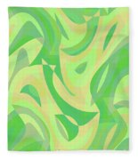 Abstract Waves Painting 007216 Fleece Blanket