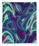 Abstract Waves Painting 007219 Fleece Blanket