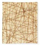 Abstract Web Background Fleece Blanket