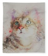Abyssinian Cat Fleece Blanket