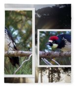 Acorn Woodpecker Fleece Blanket