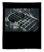 Acoustic Guitar Musician Player Metal Rock Music Black Fleece Blanket