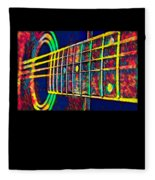 Acoustic Guitar Musician Player Metal Rock Music Color Fleece Blanket
