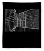 Acoustic Guitar Musician Player Metal Rock Music Strings Fleece Blanket