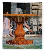 Acqua For Marcus Fleece Blanket