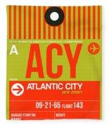 Acy Atlantic City Luggage Tag I Fleece Blanket