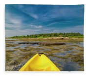 Adventurous Kayak In Maine Fleece Blanket
