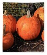 The Pumpkin Patch Fleece Blanket
