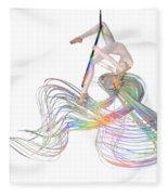 Aerial Hoop Dancing Ribbons For Her Hair Png Fleece Blanket