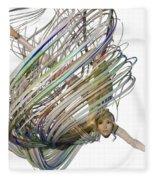 Aerial Hoop Dancing Whirlwind Of Hair Png Fleece Blanket